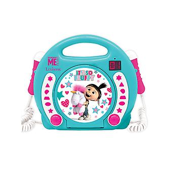 Despicable Me Fluffy Unicorn CD Player with Microphones