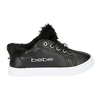 Girls Low Top Athletic Sneakers with Faux Fur Tongue Comfort Sports Shoes