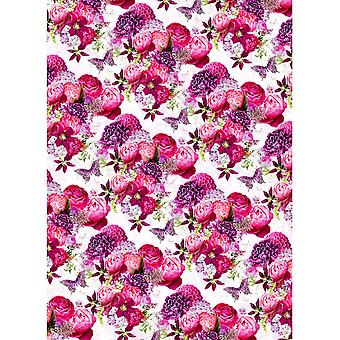 Simon Elvin Flowers And Butterflies Gift Wraps (24 Sheets)
