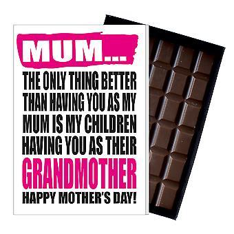 Funny mor ' s dag gave frække chokolade til stede for Gran Granny bedstemor bedstemor MIYF143