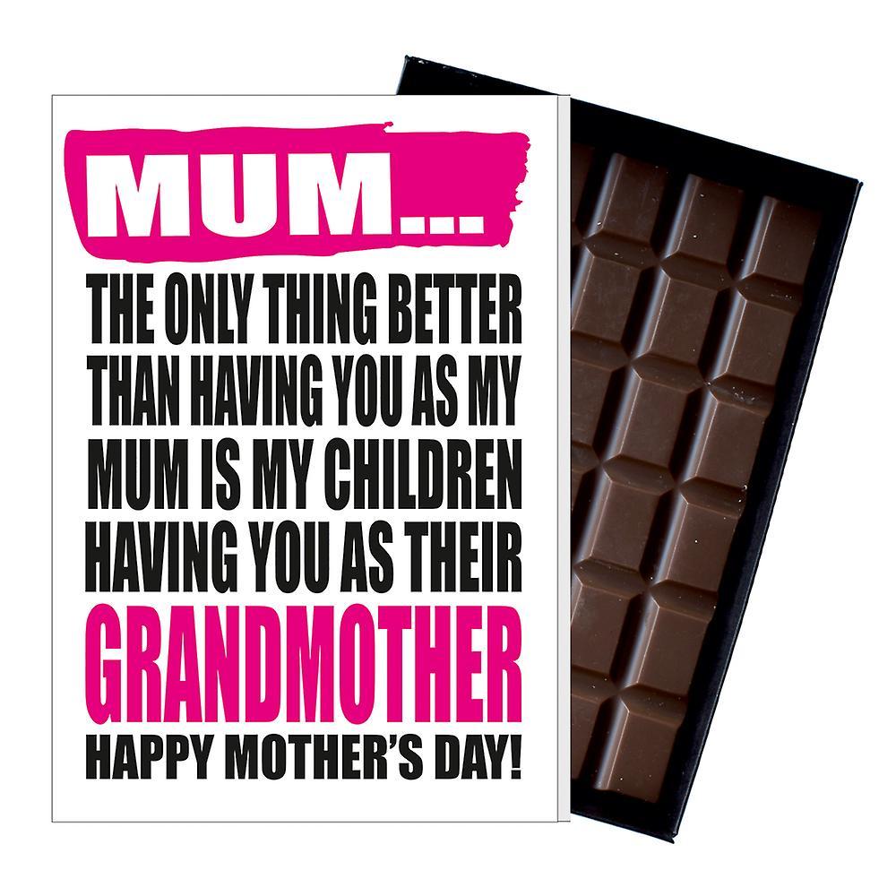 Funny Mother's Day Gift Naughty Chocolate Present for Gran Granny Grandma Grandmother MIYF143