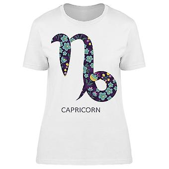 Zodiac Sign floral Capricórnio tee mulheres ' s-imagem por Shutterstock