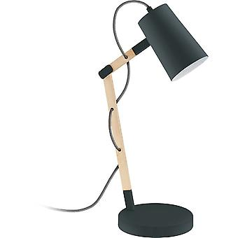 Eglo TORONA Wooden Black Desk Lamp