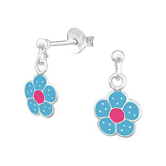 Flower - 925 Sterling Silver Colourful Ear Studs - W35630x