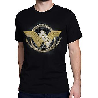 Wonder Woman Movie Golden Lasso Logo Men's T-Shirt