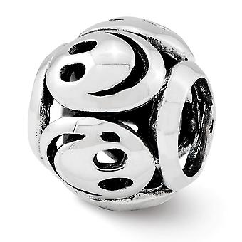 925 Sterling Silver finish Reflections Smiley Faces Bead Charm Pendant Necklace Jewelry Gifts for Women