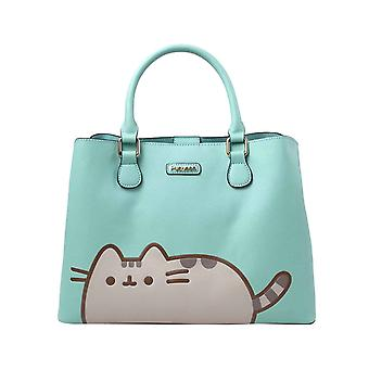 Pusheen Handbag Carry Me Everywhere Logo faux leather new Official Blue