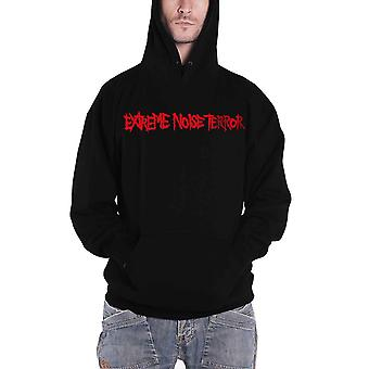 Extreme Noise Terror Hoodie Band Logo new Official Mens Black Pullover
