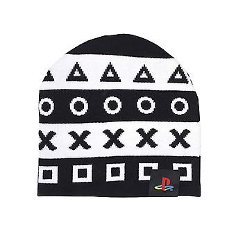 Playstation Beanie Hat Controller Symbols Gamer new Official