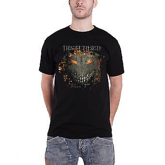 Disturbed T Shirt Asylum Fire band logo Official Mens Black