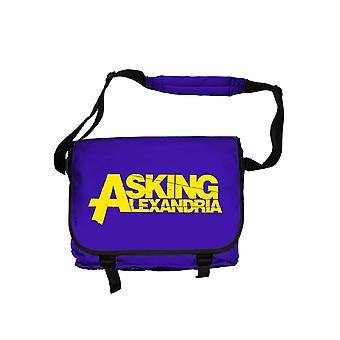 Perguntando logo Alexandria oficial irresponsável novo saco roxo Messenger