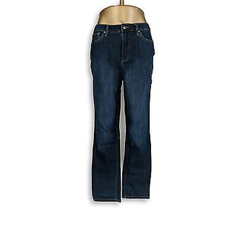 Mujeres's Jeans 5-Pocket Slim Recta Pierna Azul A296667