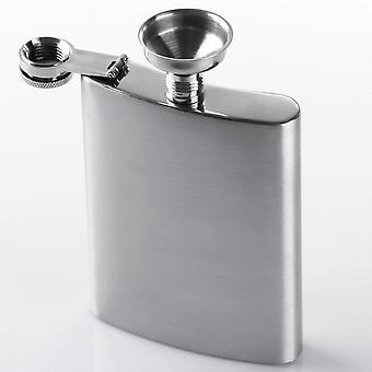2x Stainless Steel Hip Flask Hip Flasks 2 Set in 4 Pieces Metal Hip Flask Funnel Set -2 * 8oz 227ml Hip Flask + 2 * Funnels (Silver)