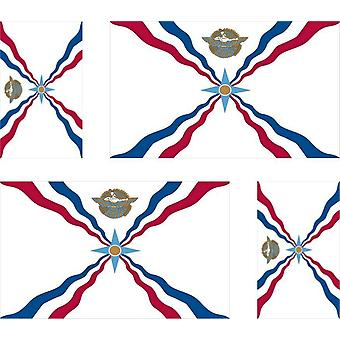 4 X Sticker Sticker Sticker Motorcycle Car Valise Pc Assyria Flag Assyria Assyrian