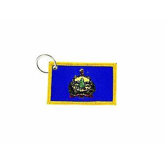 Cle Cles Schlüssel Brode Patch Ecusson Abzeichen Vermont Kanada Flagge Tür