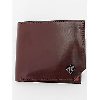 Ted Baker Farmed Bifold Leather Wallet - Chocolate