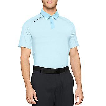 Under Armour Mens Threadborne lyhythihainen urheilu Golf pikeepaita tee pusero-sininen