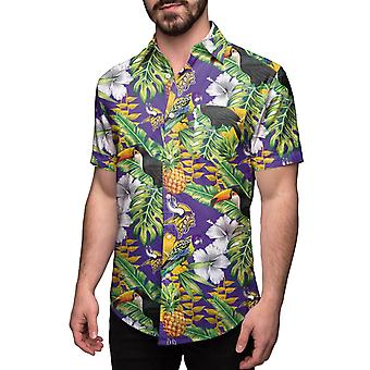 Minnesota Vikings HAWAII FLORAL NFL Shirt Short Sleeve Shirt