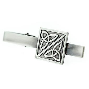 Pewter Celtic Holy Trinity Noeuds Square Shaped Tie Bar