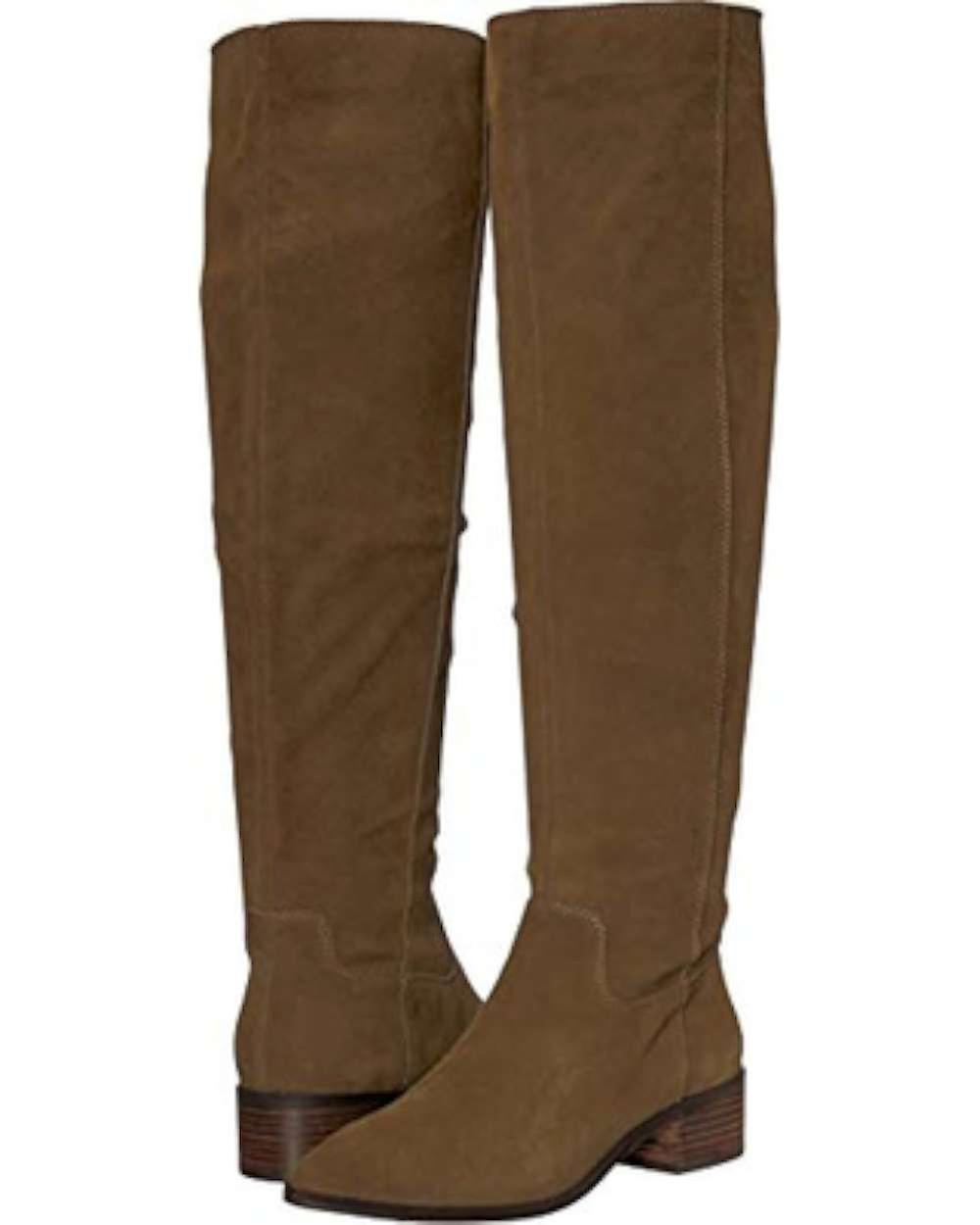 Lucky Brand Womens Kitrie Fabric Pointed Toe Knee High Fashion Boots