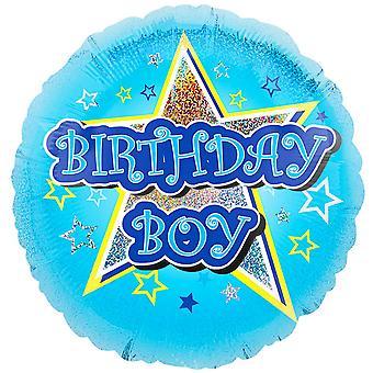 Anagram 18 Inch Blue Star Birthday Boy Circle Foil Balloon