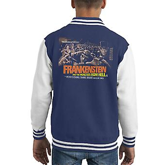 Hammer Horror Films Frankenstein Monster From Hell Grab Kid's Varsity Jacket