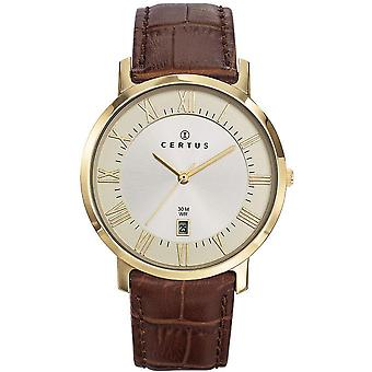 Watch Certus 612357 - Leather Brown man