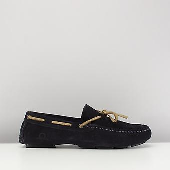 Chatham Riley Ii Mens Suede Moccasin Driving Shoes Navy