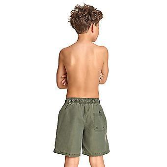 Zoggs Mosman Boy's Swim Shorts in Blue Chlorine Proof with Drawstring Waist