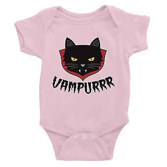 Vampurrr Funny Halloween Cute Graphic Design Baby Bodysuit Gift Pink