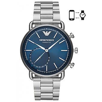 Emporio Armani ART3028 Watch-Connect e sølv stål armbånd sag grå stål mænd