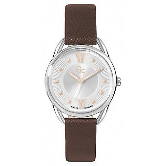 Watch GC Y13001L1 - Leather Brown woman