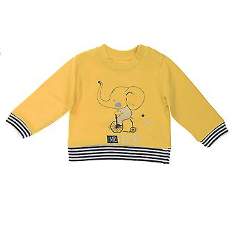 Babybol jongens gele sweater Mr. Elephant