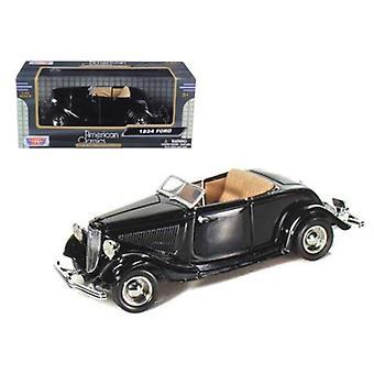 1934 Ford Coupé Cabariolet Noir 1/24 Diecast Model Car par Motormax