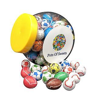 450g Cookie Jar de sportsballs au chocolat emballés individuellement