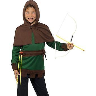 Robin Hood Kostüm Kind grün/braun