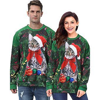 AMENON Ugly Christmas Ho Reindeer Sweater Women Juniors 3D Funny Santa Snowma...