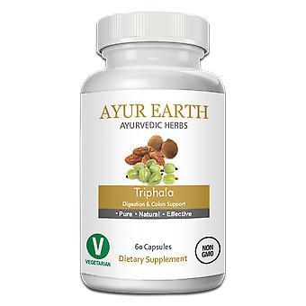 AYUR EARTH Triphala Digestion & Colon Support Ayurvedic Supplement