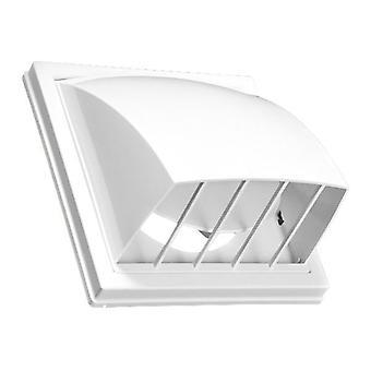 150/160mm Ventilation Air Hood Non-Return Flap Outside Duct Cover White Colour