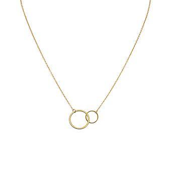 16 palcov + 2 palca extention 14k Gold plated 925 Sterling Silver náhrdelník malý veľký kruh Link Center šperky Darčeky pre