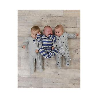 The Essential One Baby Boys Handsome Bear Sleepsuits - 3 Pack