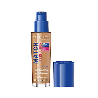 Rimmel London Match Perfection Foundation Cobertura invisible SPF15 30ml Caramel #502
