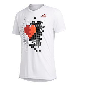 Adidas Eier Run Valentine Tee M FI0655 runing hele året menn t-skjorte
