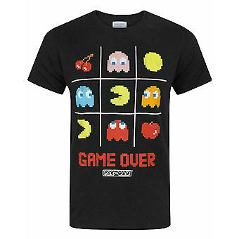 "Pac-Man ""Game Over"" Men's Official Tic Tac Toe Retro Character T-Shirt"