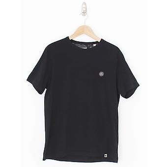 Pretty Green Classic Rundhals Logo T-Shirt - Schwarz
