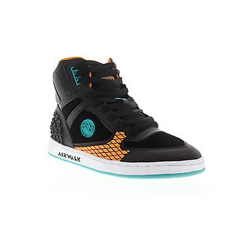 Airwalk Prototype 600  Mens Black Suede Lace Up Athletic Skate Shoes