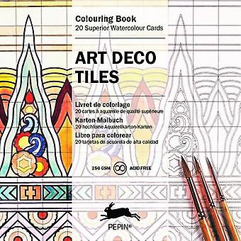 Art Deco Tiles - Colouring Card Book by Pepin Van Roojen - 97894600965