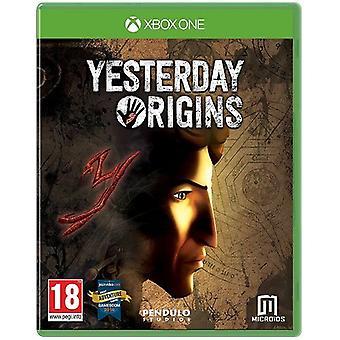 Yesterday Origins Xbox One Game