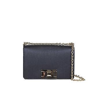 Furla 1064422 Women's Black Leather Shoulder Bag