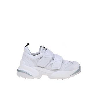 Sergio Rossi A89430mfn90290000 Women-apos;s White Fabric Sneakers